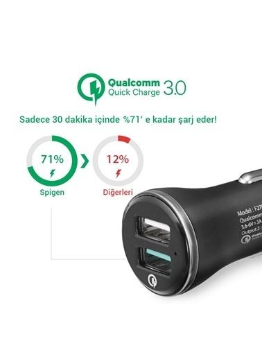 Spigen Spigen F27QC Hızlı Şarj 3.0 Araç Şarjı Çift Giriş USB QC 3.0 Qualcomm Renkli